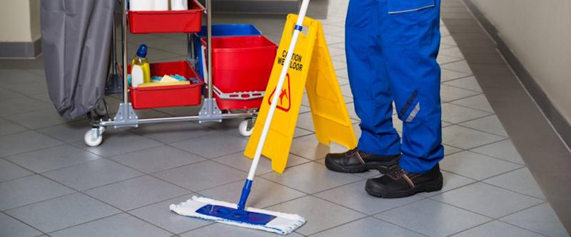 janitor and cleaning supplies