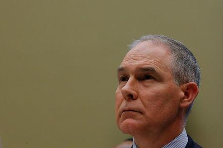 EPA Administrator Pruitt testifies before a House Energy and Commerce Subcommittee hearing in Washington