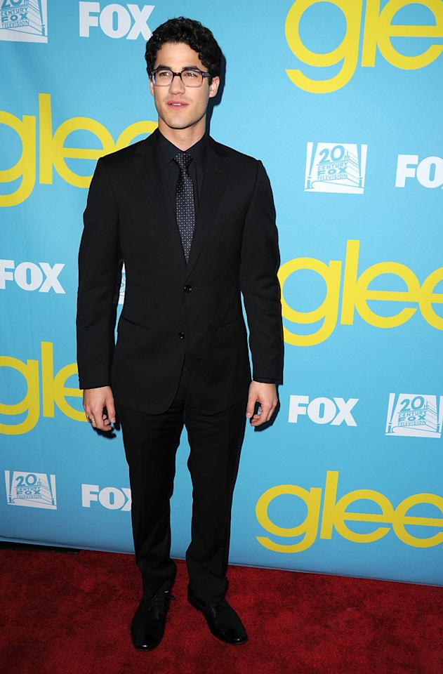 "Darren Criss attends a special screening of ""<a target=""_blank"" href=""http://tv.yahoo.com/glee/show/44113"">Glee</a>""  hosted by The Academy of Television Arts & Sciences at Leonard H.  Goldenson Theatre on May 1, 2012 in North Hollywood, California."