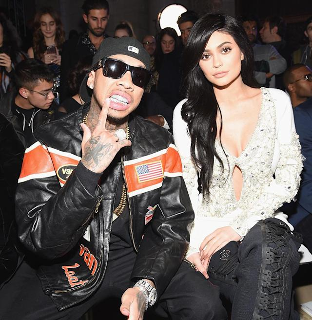 Tyga and Kylie Jenner in February 2017 in New York City. (Photo: Dimitrios Kambouris/Getty Images for Philipp Plein)