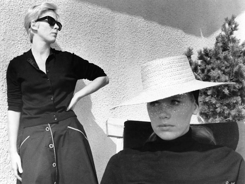 "Bibi Andersson and Liv Ullmann in ""Persona."""
