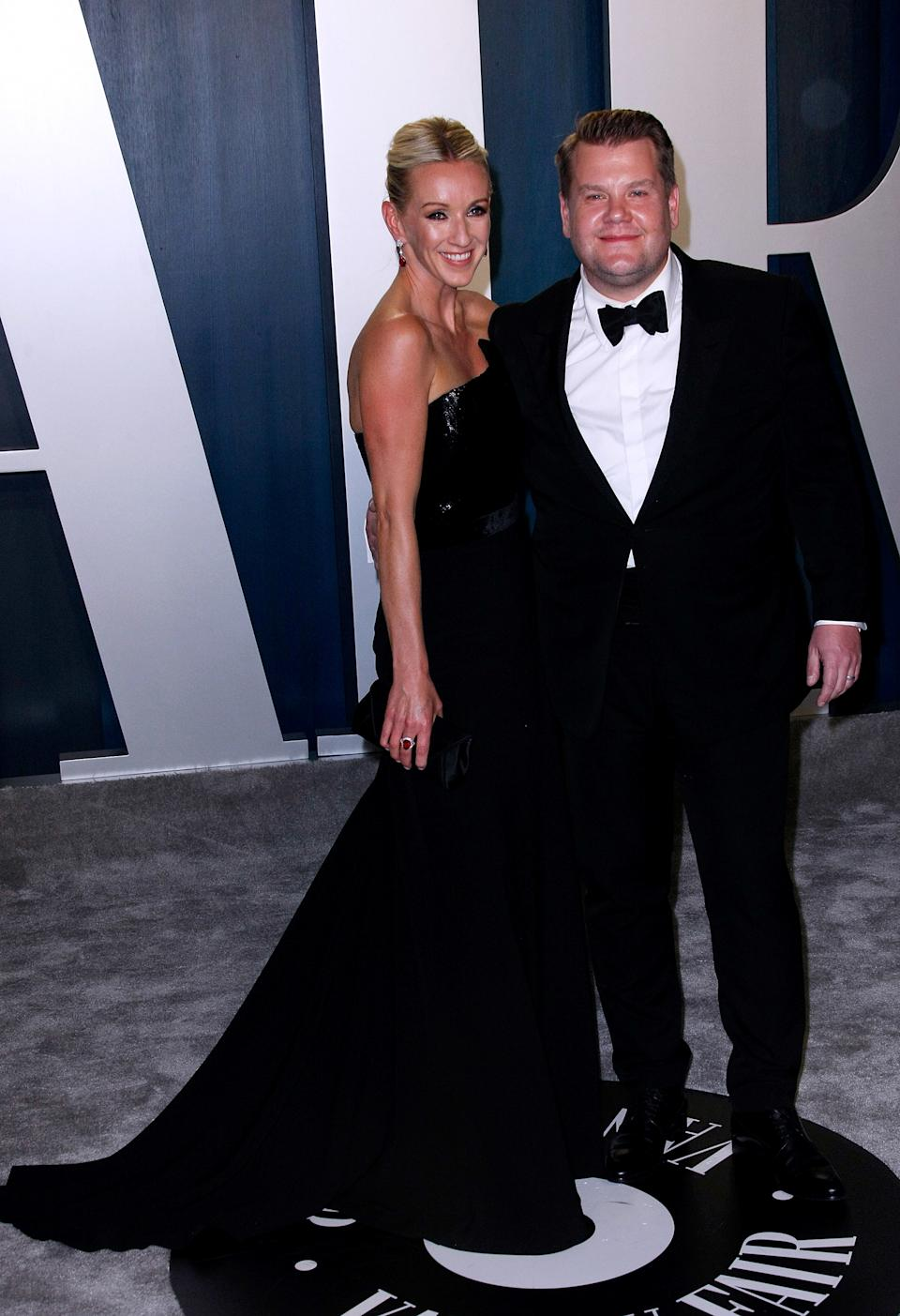 BEVERLY HILLS, CALIFORNIA - FEBRUARY 9: James Corden, Julia Carey attend the 2020 Vanity Fair Oscar Party at Wallis Annenberg Center for the Performing Arts on February 9, 2020 in Beverly Hills, California. Photo: CraSH/imageSPACE/Sipa USA