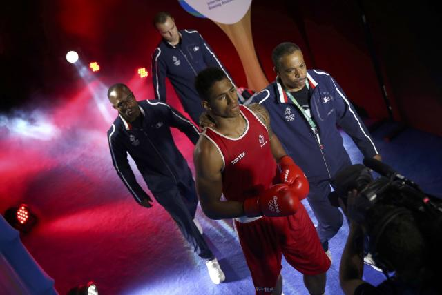 2016 Rio Olympics - Boxing - Final - Men's Super Heavy (+91kg) Final Bout 273 - Riocentro - Pavilion 6 - Rio de Janeiro, Brazil - 21/08/2016. Tony Yoka (FRA) of France arrives for his bout. REUTERS/Matthew Childs FOR EDITORIAL USE ONLY. NOT FOR SALE FOR MARKETING OR ADVERTISING CAMPAIGNS.