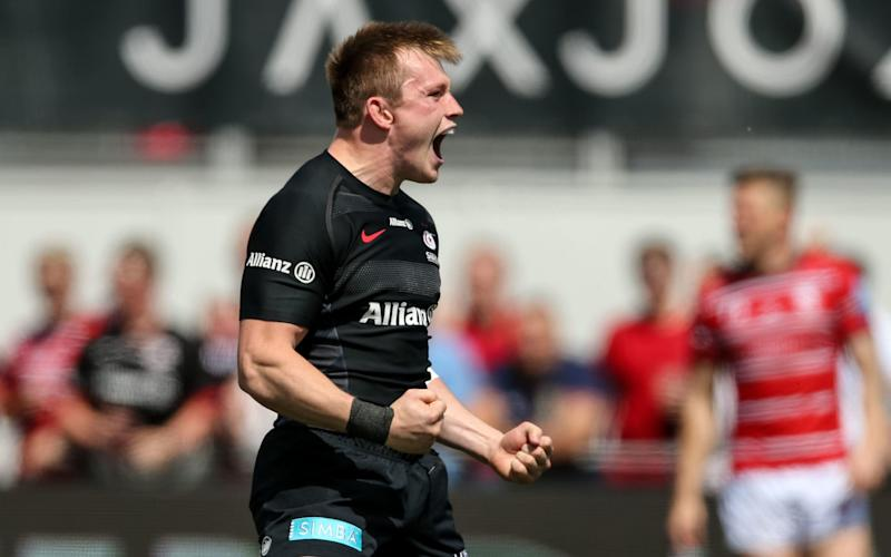 Nick Tompkins scored a second-half hat-trick as Saracens stretched away - PA