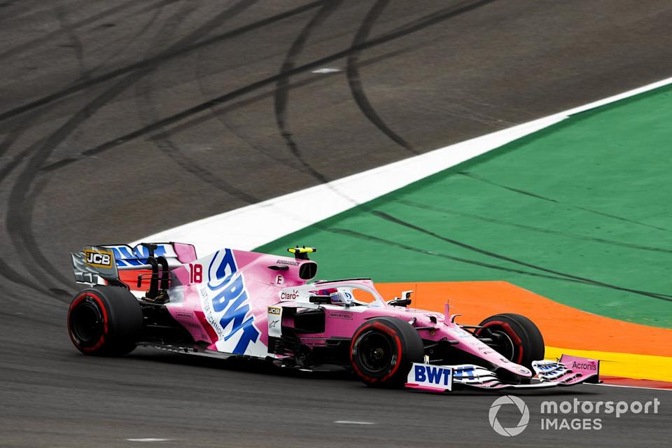 """Lance Stroll, Racing Point RP20<span class=""""copyright"""">Zak Mauger / Motorsport Images</span>"""