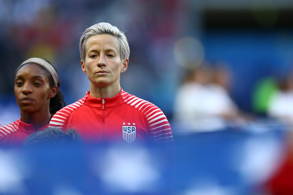 Megan Rapinoe during the World Cup. (Getty)