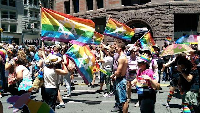 A gay pride march in San Francisco in 2014. (Photo: Sarah Stierch via WikiCommmons)