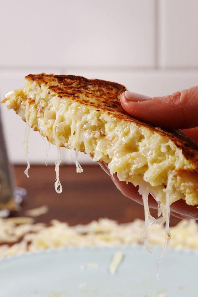 """<p>Skeptical of a grilled cheese gilled with... cauliflower? Fair enough. But this recipe will make you think twice.</p><p><em><strong>Get the recipe at <a href=""""https://www.delish.com/cooking/recipe-ideas/recipes/a51638/cauliflower-grilled-cheese-recipe/?src=socialflowFB"""" rel=""""nofollow noopener"""" target=""""_blank"""" data-ylk=""""slk:Delish."""" class=""""link rapid-noclick-resp"""">Delish.</a></strong></em></p>"""