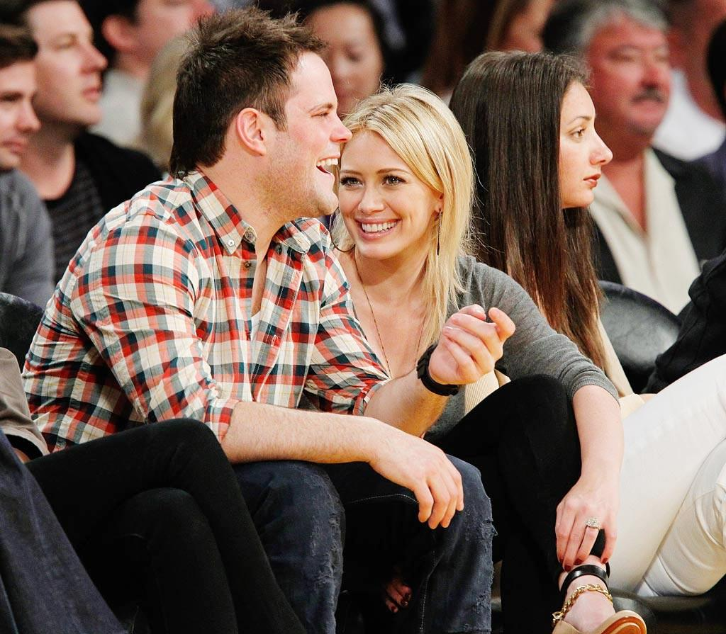 """On August 14, Hilary Duff, 22, tied the knot with Edmonton Oilers player Mike Comrie in Montecito, California. Noel Vasquez/<a href=""""http://www.gettyimages.com/"""" target=""""new"""">GettyImages.com</a> - May 17, 2010"""