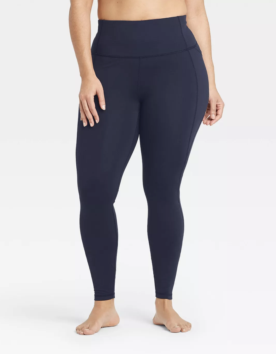"""It's easy to think that the best workout leggings have to cost upwards of $50, but Target's well-liked pair proves otherwise. The flat stitches create a seamless effect and the side pocket is roomy enough to fit the latest iPhone. $25, Target. <a href=""""https://www.target.com/p/women-s-contour-power-waist-high-waisted-leggings-with-stash-pocket-all-in-motion/-/A-77642391"""" rel=""""nofollow noopener"""" target=""""_blank"""" data-ylk=""""slk:Get it now!"""" class=""""link rapid-noclick-resp"""">Get it now!</a>"""