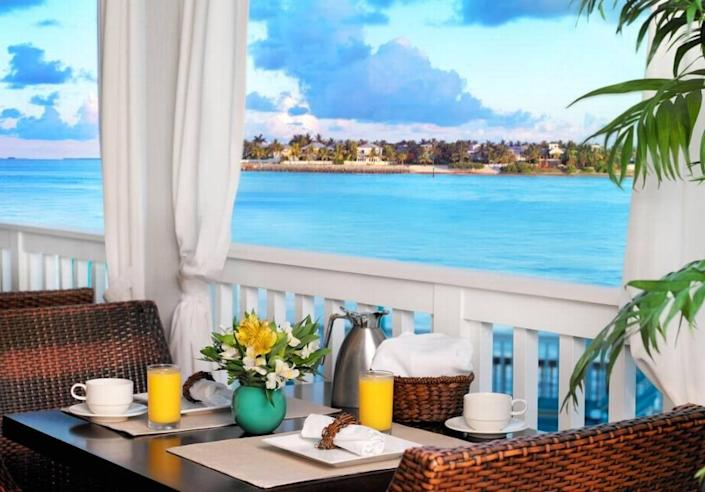 Breakfast by the sea? Yes and thank you! Begin the day with a mimosa in hand at Ocean Key Resort's scenic restaurant, Hot Tin Roof.