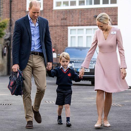 Prince William Kate Middleton school drop off