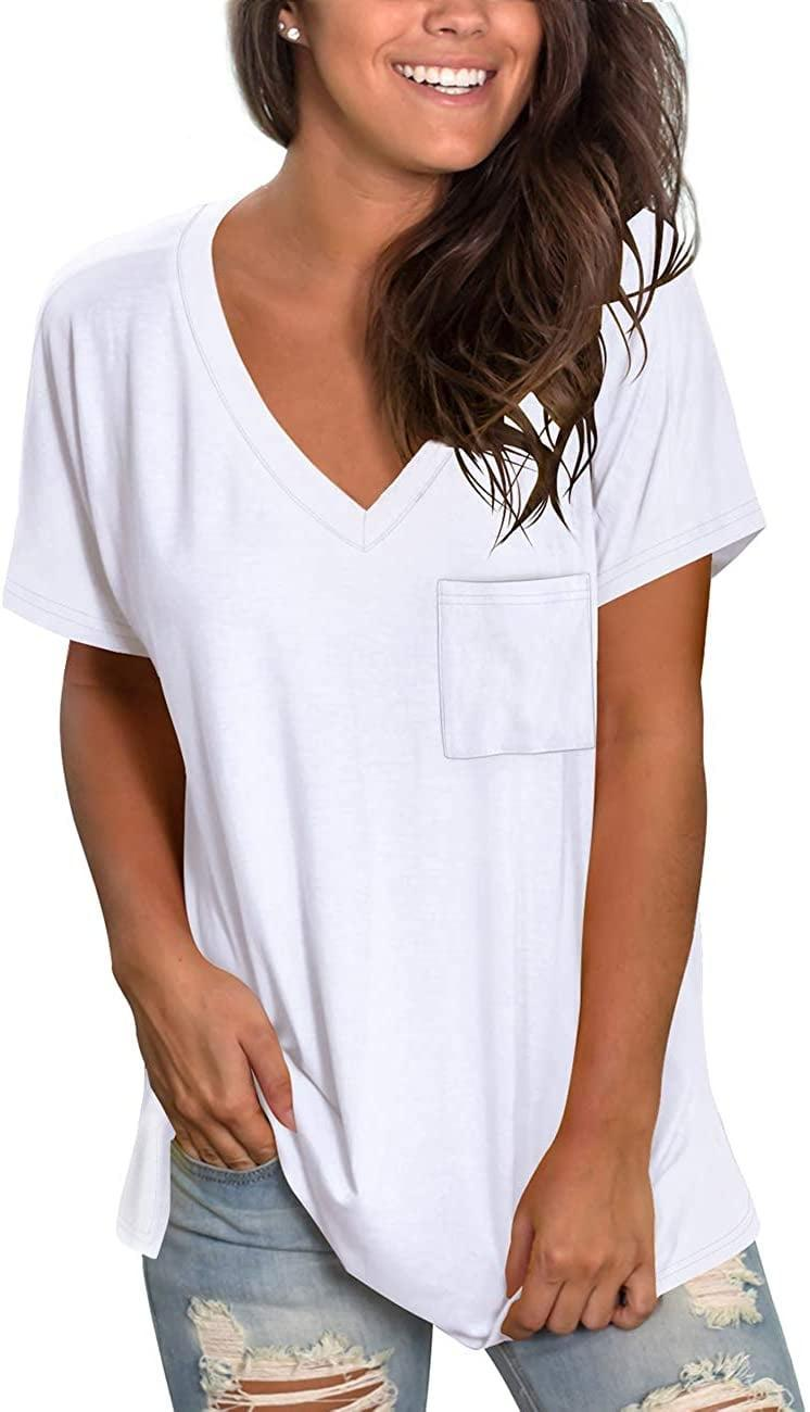 <p>This <span>NSQTBA V-Neck T-Shirt</span> ($18) is currently the bestselling tee on all of Amazon.</p>