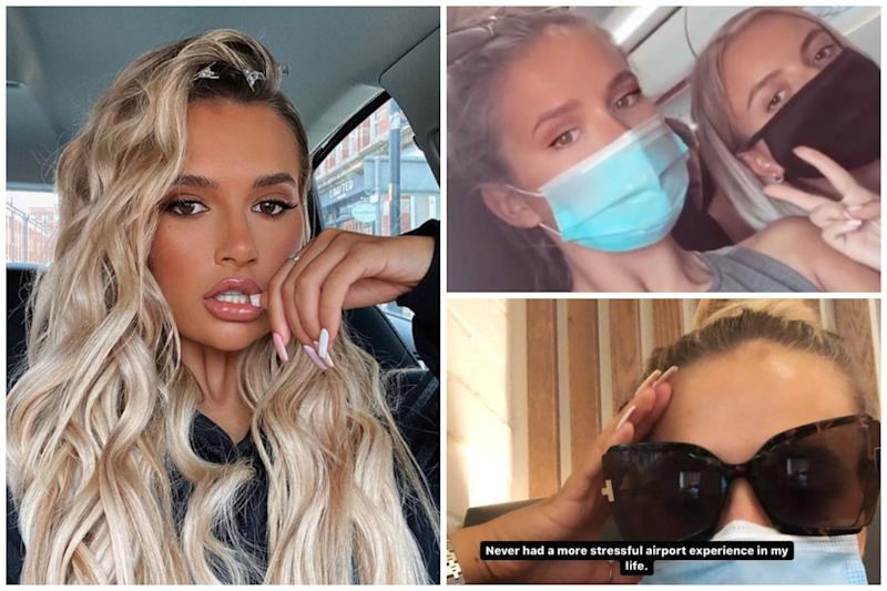 Love Island star Molly-Mae Hague has hit out at easyJet over 'stressful' airport experience: Instagram @ Molly-Mae Hague