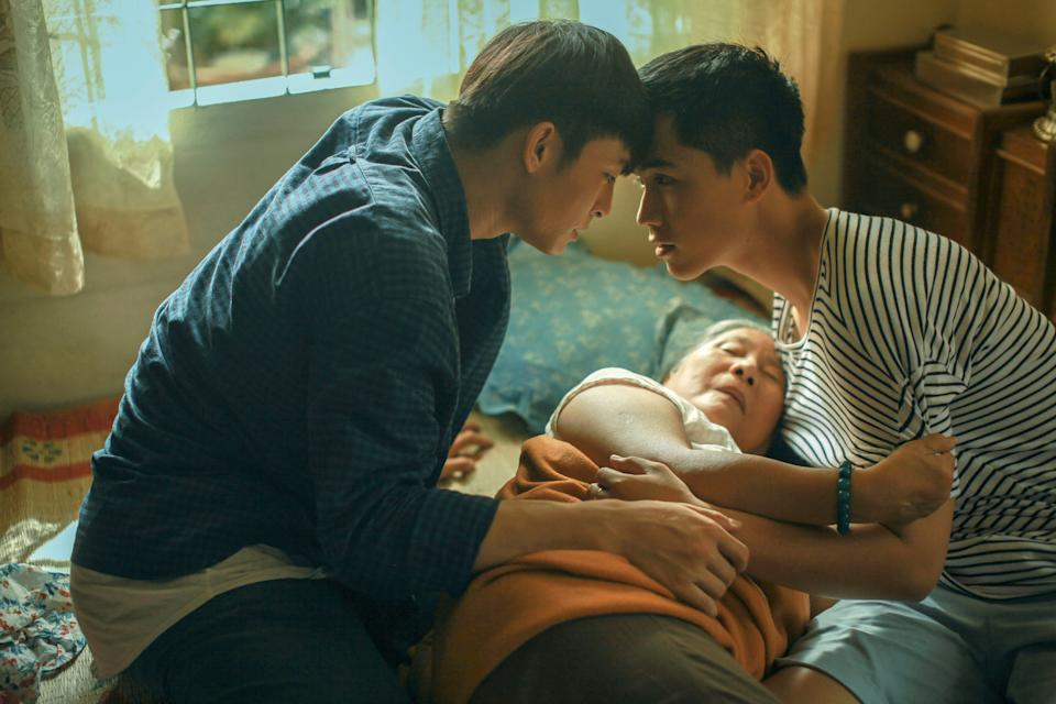 "In ""Goodbye Mother,"" a Vietnamese bachelor (Lanh Thanh) returns home from the U.S. with a Vietnamese American boyfriend (Vo Dien Gia Huy), attempting to come out to his widowed mother."