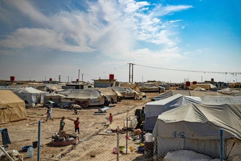 Most families of IS fighters are held in the dusty Al-Hol encampment, a tent city home to more than 70,000 people (AFP Photo/Delil SOULEIMAN)