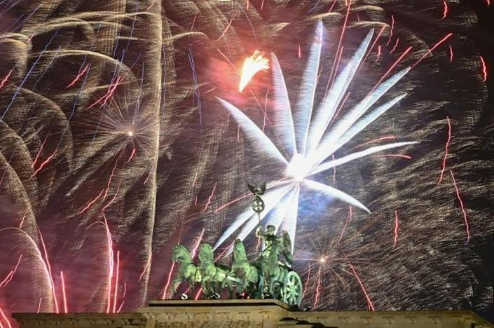 People spent around 113 million euros ($127 million) this year in Germany for New Year's fireworks, sector federation VPI data shows (AFP Photo/Tobias SCHWARZ)