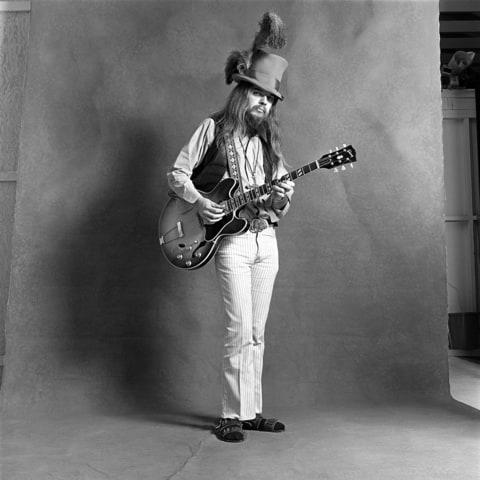 CIRCA 2000: Photo of Leon RUSSELL; Posed full length studio portrait of Leon Russell for 'Mad Dogs and Englishmen' Album Cover