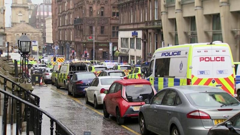 UK police have shot dead a man suspected of stabbing six people in Glasgow