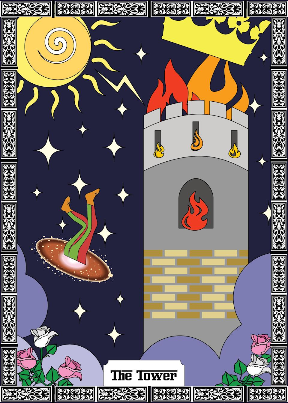 """<h1 class=""""title"""">the tower major arcana tarot card</h1><cite class=""""credit"""">Getty Images</cite>"""