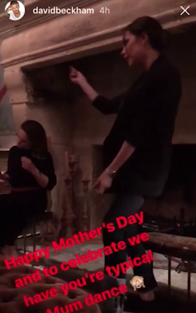 Victoria Beckham has shown off her dancing and according to her husband David Beckham her moves are very 'mum' like. Source: Instagram / davidbeckham