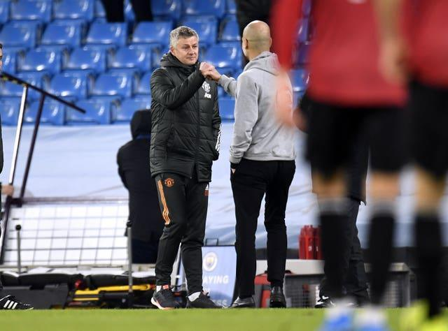 Ole Gunnar Solskjaer (left) got the better of Pep Guardiola and Manchester City last weekend