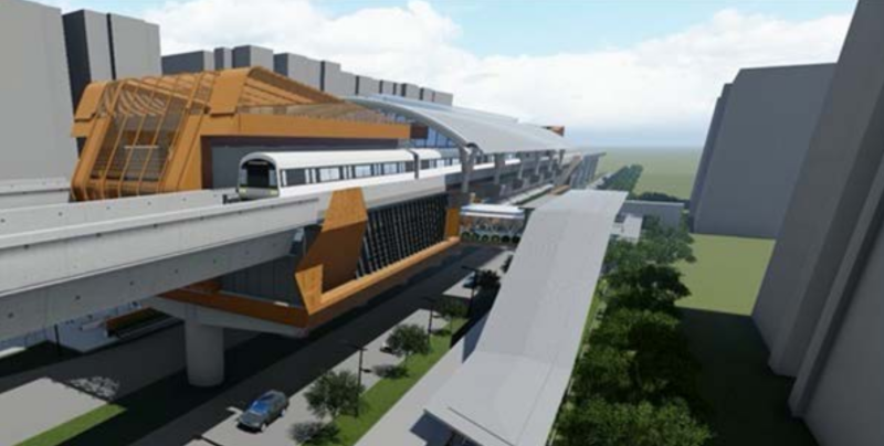 Artist impression of Jurong West station. (IMAGE: Land Transport Authority)