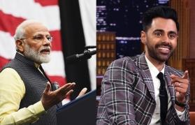 You're out of space in a football stadium? Hasan Minhaj on being denied entry at Howdy Modi
