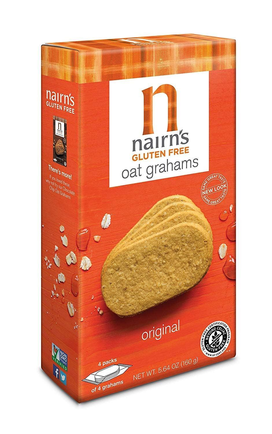 <p>Graham Crackers remind us of our childhood, so we were so happy to find these <span>Nairn's Gluten Free Oat Grahams</span> ($6).</p>