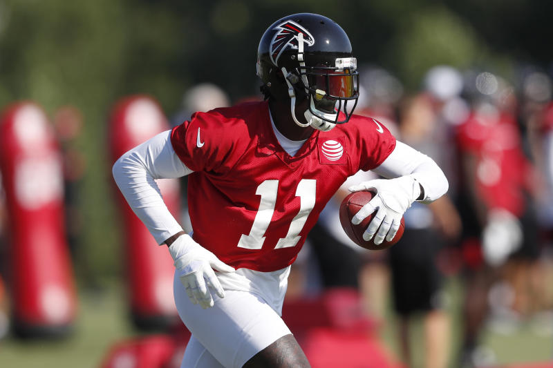 Atlanta Falcons wide receiver Julio Jones led the NFL in receiving last season. (AP)