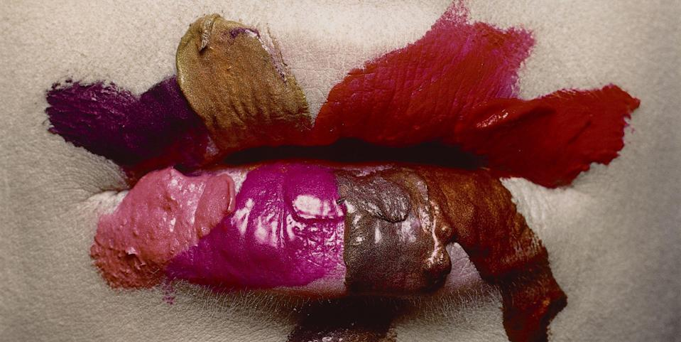 Photo credit: Irving Penn Mouth (for L'Oreal), New York, 1986 (dye transfer print 18-1/4