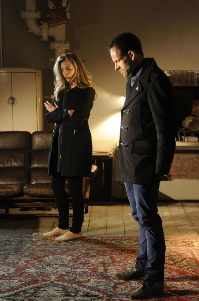 """""""The Woman"""" - As Sherlock (Jonny Lee Miller) reels at the reappearance of his former lover, Irene Adler (Natalie Dormer), a series of flashbacks unravel the tumultuous events that led to his downfall into addiction, on the two hour, first season finale of """"Elementary."""""""