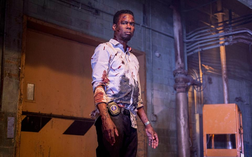 Chris Rock stares death in the face in Spiral: From the Book of Saw - Brooke Palmer/Lionsgate
