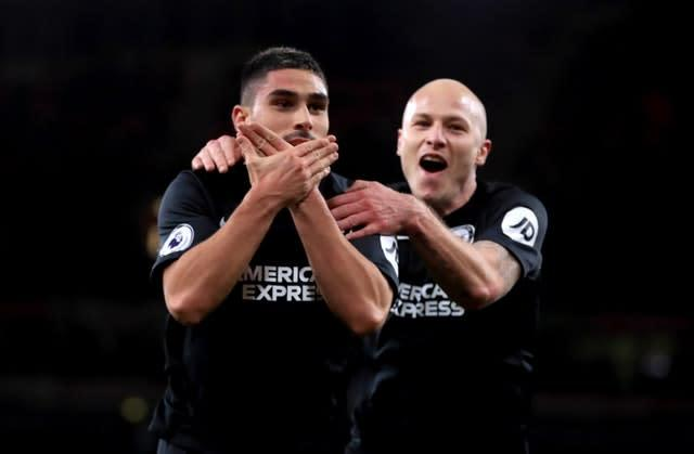 Brighton's Neal Maupay (left) has scored in his last three games (Adam Davy/PA)