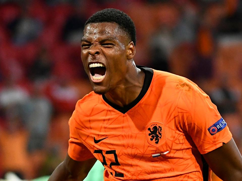 Denzel Dumfries has scored two in two for Netherlands at Euro 2020 (Getty Images)