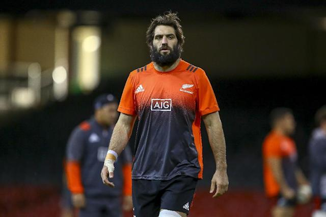 New Zealand rugby captain Sam Whitelock, pictured in 2017, will lead the All Blacks against France (AFP Photo/Geoff CADDICK)