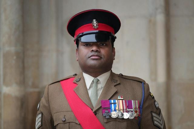 Colour Sergeant Johnson Beharry too part in the service. Aaron Chown/PA Wire
