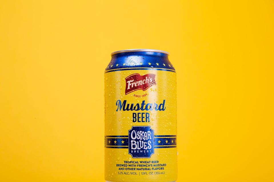 French's Mustard Beer is launching in time for National Mustard Day. (Photo: French's Mustard)