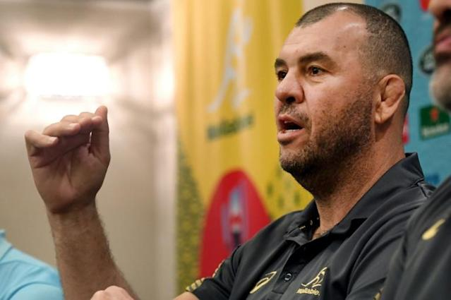 Michael Cheika says he wlil be proud of his team whatever happens (AFP Photo/William WEST)