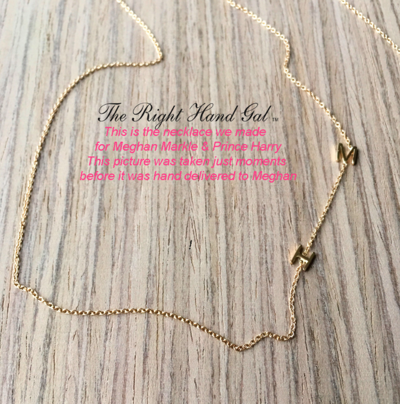 Meghan Markle letter necklace