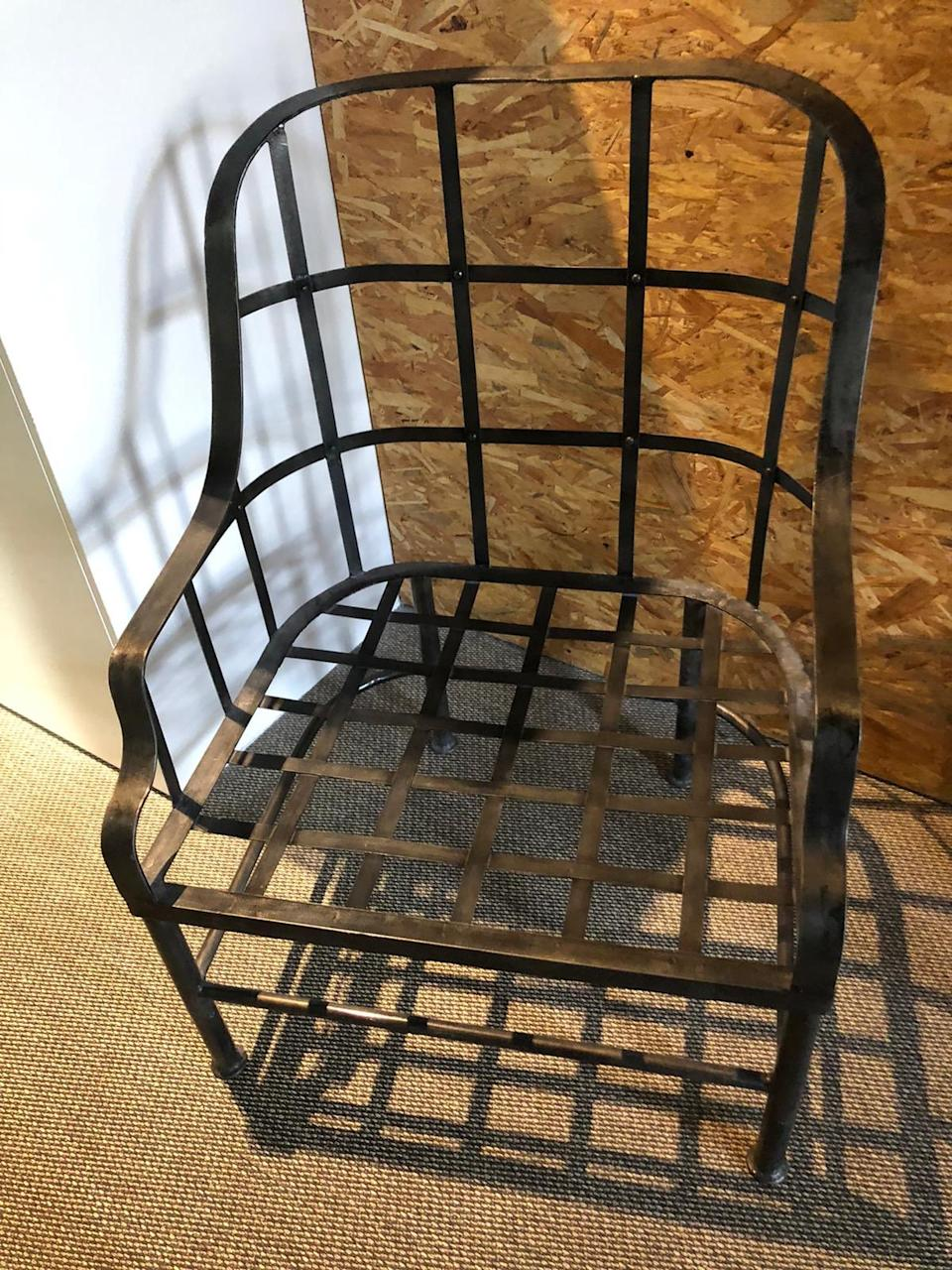 Image of steel chair in isolation CVOID-919 room used by Sharon Bingle
