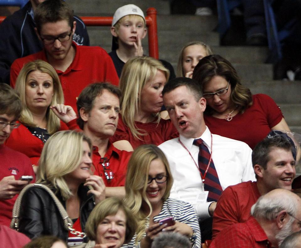 Greg Byrne, right, was hired as Arizona's athletic director in 2010. (AP Photo/Wily Low)