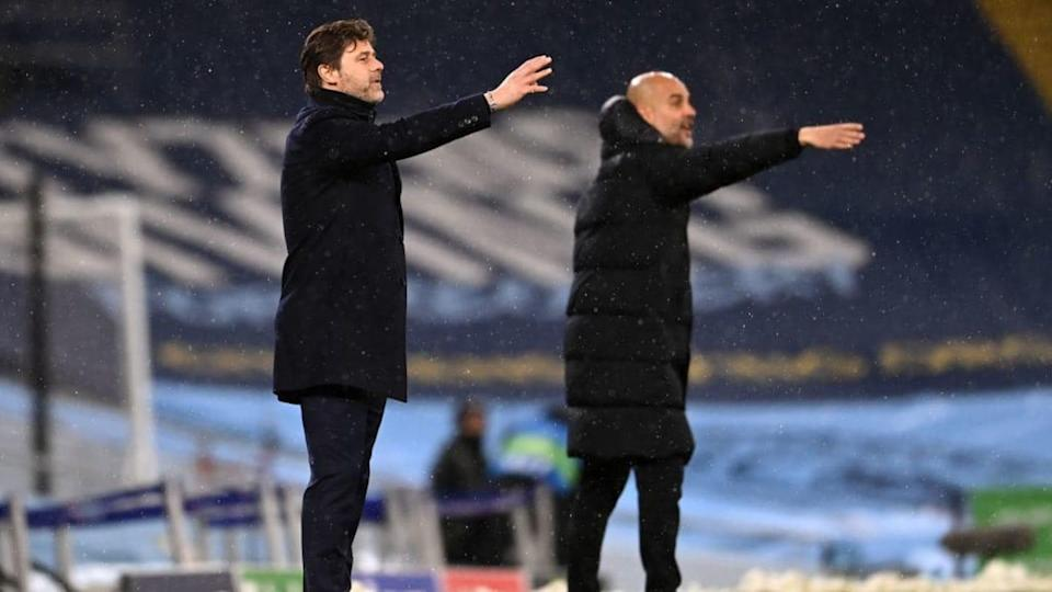 Pochettino e Guardiola | Laurence Griffiths/Getty Images