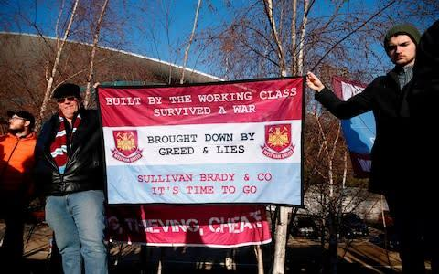 <span>More protests by West Ham supporters are planned</span> <span>Credit: AFP </span>