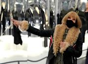 """Anna Wintour, who overseas the Costume Institute, presenting the new exhibition """"About Time"""""""