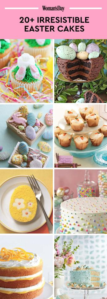 "<p>Save these Easter cake recipes for later by pinning this image, and follow <i>Woman's Day </i>on <a rel=""nofollow"" href=""https://www.pinterest.com/womansday/"">Pinterest</a> for more.<span></span></p>"