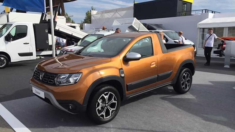 dacia duster gets pickup version. Black Bedroom Furniture Sets. Home Design Ideas