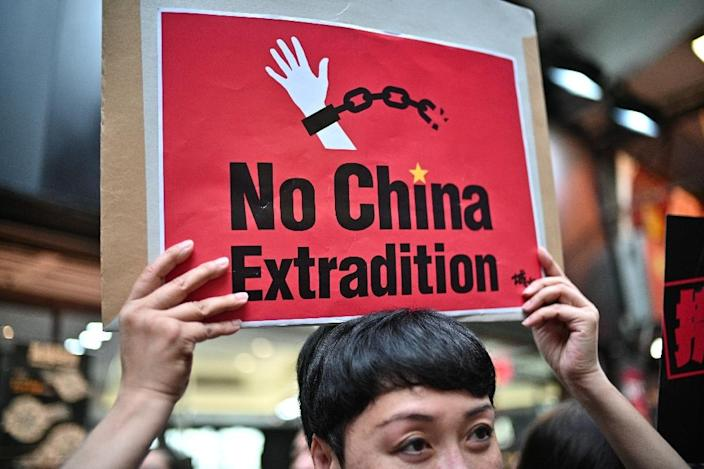 The proposed extradition law has sparked widespread unease in Hong Kong (AFP Photo/Anthony WALLACE)