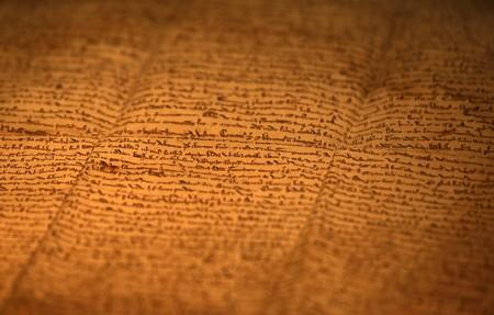 "FILE PHOTO: One of the few surviving copies of Magna Carta, Latin for ""The Great Charter"" written in 1217 on sheep skin is displayed at an exhibition in Hong Kong"