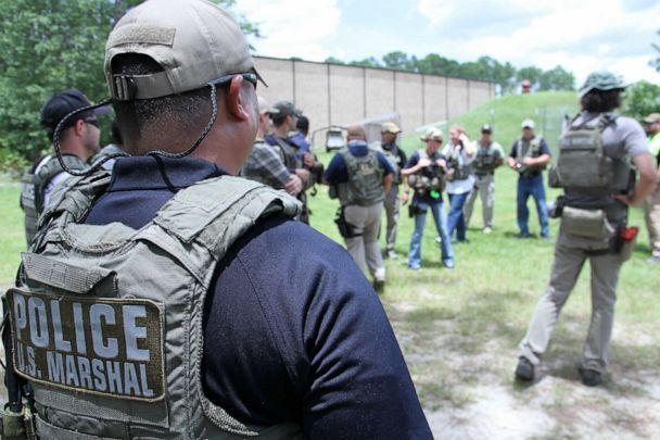 PHOTO: Members of the US Marshal's Service conduct High Risk Fugitive Apprehension training at the Federal Law Enforcement Training Center at Glynco, Ga., in 2017. (Shane T. McCoy/US Marshals, FILE)